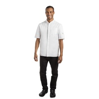 Le Chef Contemporary Unisex Prep Shirt White XL BB141-XL