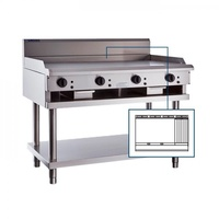 LUUS Professional 900mm Griddle 300mm Chargrill CS-9P3C