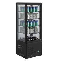 Polar Chilled Display Cabinet Black 98Ltr  CS628-A