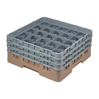 New Cambro Camrack Beige 25 Compartments Max Glass Height 174mm DE789