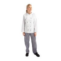 Whites Chicago Unisex Chef Jacket Long Sleeve White XXL DL710-XXL