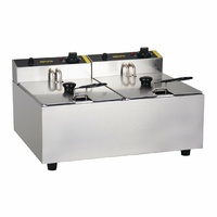 Apuro Double Pan Bench Top Fryer 2 x 5Ltr DL891-A