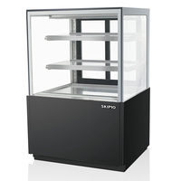 Skipio 900mm 3 Shelves Black Cake Display Fridge SB900-3RD