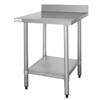 Vogue Stainless Steel Table with Upstand 600(D)mm T379